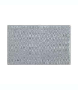 Tapete para baño de algodón orgánico Haven™ Chunky Loop color gris lunar