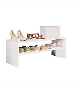 Zapatera aglomerada Simply Essential™ apilable color blanco