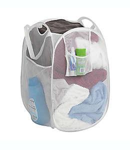 Cesto plegable para ropa de poliéster Simply Essential™ color blanco