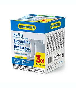 Repuestos absorbentes de humedad HUMYDRY® sin aroma de 260.24 mL, Paquete de 3