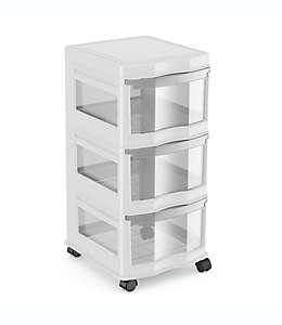 Organizador de polipropileno Simply Essential™ con 3 cajones color gris