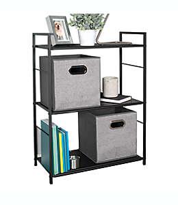 Mueble de metal Simply Essential™ con 3 repisas color negro