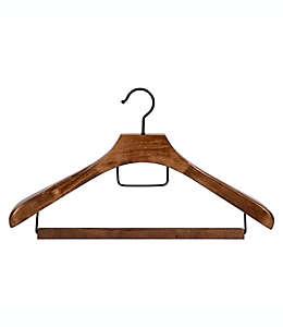 Ganchos de madera para trajes Squared Away™ Deluxe color nogal