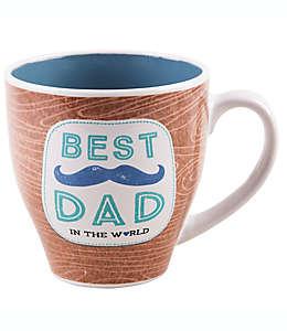 "Taza de cerámica Home Essentials® ""Best Dad In The World"" color café"