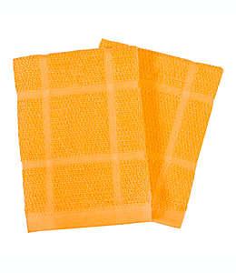 Trapos de cocina de algodón Our Table™ Everyday color oro, Set de 2