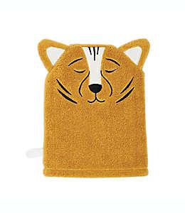 Toalla facial de algodón infantil tipo manopla Marmalade™ con cara de tigre