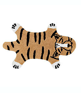 Tapete para baño de algodón Marmalade™ con diseño de tigre