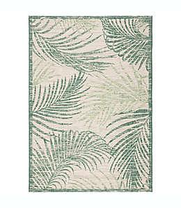 Tapete decorativo de polipropileno W Home Palm de 1.6 x 2.31 m color verde