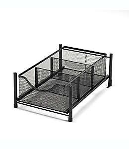 Cajón de acero Squared Away™ mediano color negro