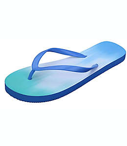 Sandalias chicas de hule para mujer Wild Sage™ Francesca Ombre color azul