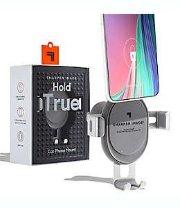 Soporte de celular para coche Sharper Image® de plástico color gris