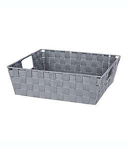 Contenedor de acero multiusos Squared Away™ tejido de 12.7 cm color gris brezo