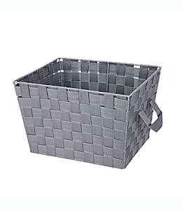 Contenedor de acero multiusos Squared Away™ de 25.4 x 30.48 cm tejido color gris brezo