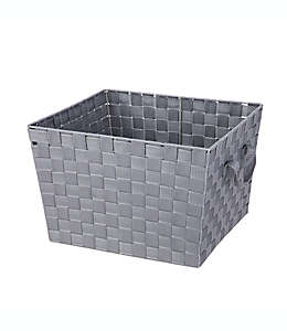 Contenedor de acero multiusos Squared Away™ de 25.4 cm tejido color gris brezo