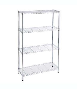 Mueble de metal cromado Simply Essential™ con 4 repisas