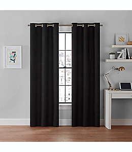 Cortinas blackout Brookstone® Galaxy de 2.13 m color negro