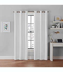 Cortinas blackout Brookstone® Galaxy de 2.13 m color blanco