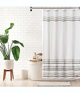 Cortina de baño estándar UGG Audree color blanco/gris