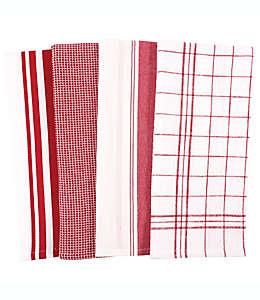 Toallas de cocina de algodón multiusos Our Table™ color rojo