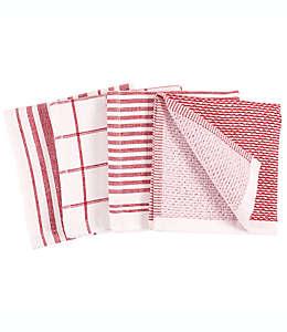 Trapos de cocina Our Table™  color rojo