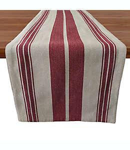 Camino de mesa de algodón Our Table™ con diseño a rayas color rojo, 1.82 m