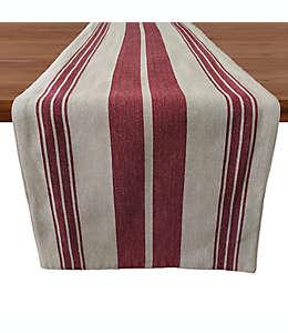 Camino de mesa de algodón Our Table™ con diseño a rayas color rojo, 2.28 m