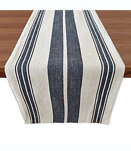 Camino de mesa de algodón Our Table™ con diseño a rayas color azul, 2.28 m