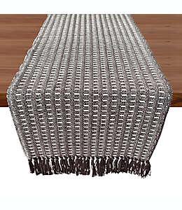 Camino de mesa de algodón Our Table™ Fringe Stitch Striped color gris, 1.82 m
