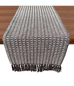 Camino de mesa de algodón Our Table™ Fringe Stitch Striped color gris, 2.28 m