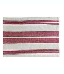 Mantel individual de algodón Our Table™ con diseño a rayas color rojo