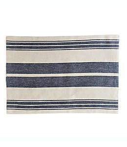 Mantel individual de algodón Our Table™ con diseño a rayas color azul