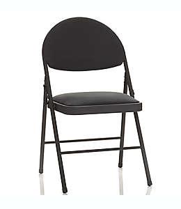 Silla plegable de metal y poliéster Simply Essential™ color negro