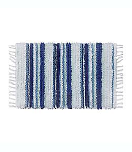 Tapete para baño de algodón Wild Sage™ Silvia color azul y blanco