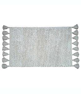 Tapete para baño de algodón Bee & Willow™ Home con flecos color blanco coco