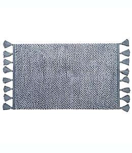 Tapete para baño de algodón Bee & Willow™ Home con flecos color azul