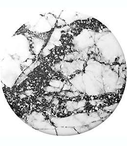 Soporte de policarbonato para celular PopSockets® Sparkle Marble color negro