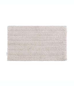 Tapete para baño de algodón orgánico Haven™ a rayas color piedra pómez