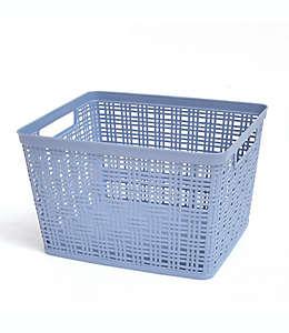 Canasta grande de polipropileno Simply Essential™ color azul