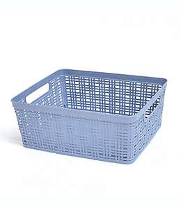 Canasta mediana de polipropileno Simply Essential™ color azul