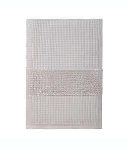 Toalla de baño de algodón orgánico Haven™ Waffle & Terry color gris roca