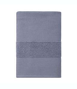 Toalla de baño de algodón orgánico Haven™ Waffle & Terry color azul grisáceo