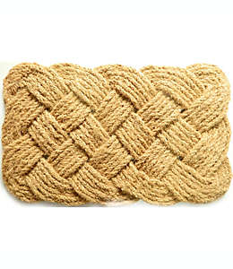 Tapete para entrada de fibra de coco Bee & Willow™ Knot de 45.72 x 76.2 cm color beige
