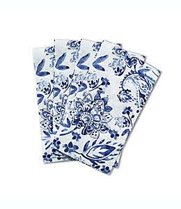 Toallas desechables de papel Paisley color azul