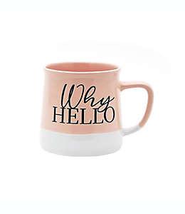 "Taza de cerámica Wild Sage™ con frase ""Why Hello"", 532.32 mL"