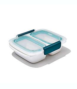 Contenedor de alimentos de polipropileno OXO Good Grips® Prep &Go de 473.17 mL color blanco/azul cerceta