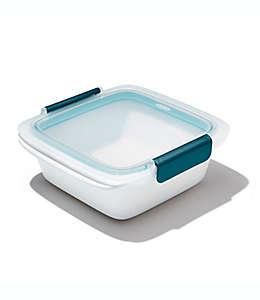 Contenedor de alimentos de polipropileno OXO Good Grips® Prep &Go de 1.01 L color blanco/azul cerceta