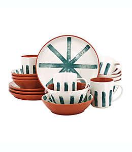Vajilla de cerámica Wild Sage™ Lia color turquesa/naranja