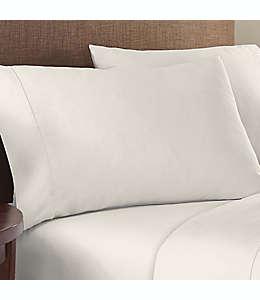 Fundas para almohada estándar/queen de algodón satinado Therapedic® Solotex color blanco garza