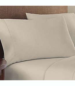Fundas para almohada estándar/queen de algodón satinado Therapedic® Solotex color gris niebla