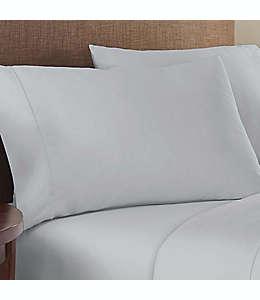 Fundas para almohada estándar/queen de algodón satinado Therapedic® Solotex color gris glaciar